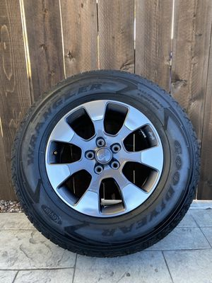 Jeep JL Wrangler Sahara Tires and upgrade Wheels - Set of 5 for Sale in San Diego, CA