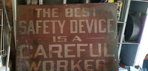 1950-1960 Safety Sign for Sale in Saint Robert, MO