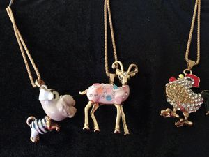 Dog, Goat, and rooster necklaces for Sale in Winston-Salem, NC