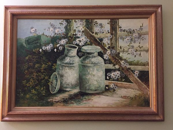 Oil Painting with wood frame
