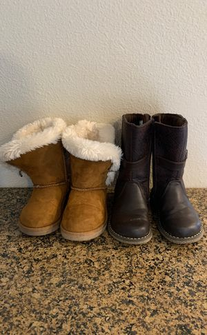 Size 8 Toddler Girl Boots for Sale in Puyallup, WA