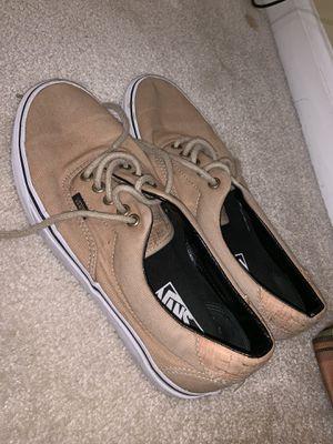 Beige Vans Shoes (Size 8.5 Men) for Sale in Sterling, VA