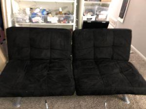 Like new black velvet futon for Sale in Lewis Center, OH