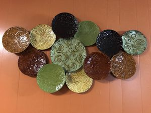 Metal Plates Wall Decor for Sale in Houston, TX