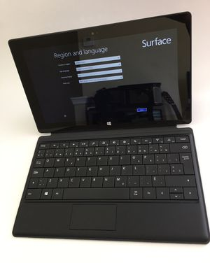 Surface Microsoft 32Gb windows RT.Used with original box.Bonus leather cover for Sale in Ashburn, VA