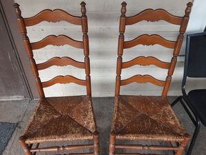 2 wooden bamboo chairs 20 bucks for Sale in Parma, OH