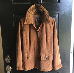 Women's Brooks Brothers Leather Coat 10 for Sale in Murfreesboro, TN