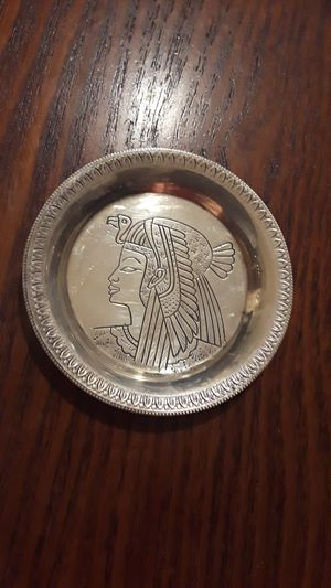 """Gorgeous miniature Sterling Silver 925 decorative saucer. 3"""" diameter. Excellent condition. for Sale in New York, NY"""