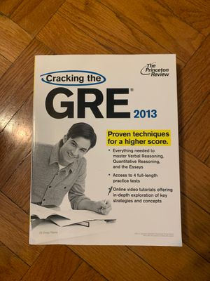 GRE Cracking the GRE Princeton Review for Sale in St. Louis, MO