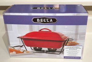 Bella 1.25 Quart Bake and Serve Buffet Server with Wire Rack for Sale in Las Vegas, NV