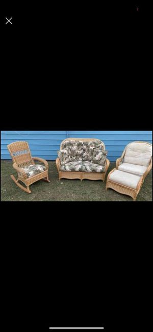 Rotan furniture, living room/ patio for Sale in Wichita, KS