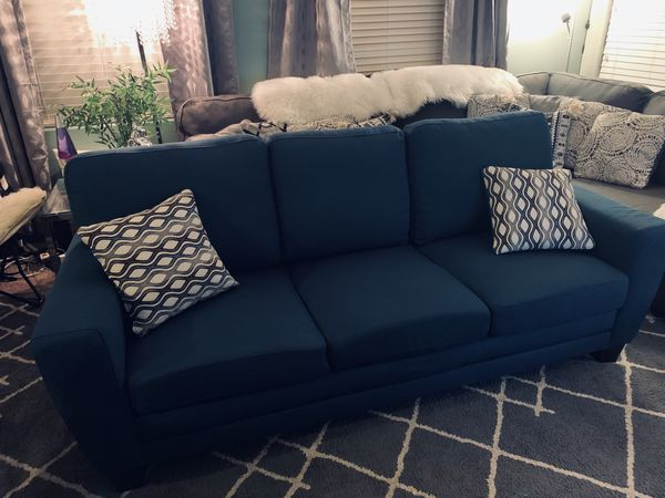 Blue Couch Sofa Like New For Sale In Henderson Nv Offerup