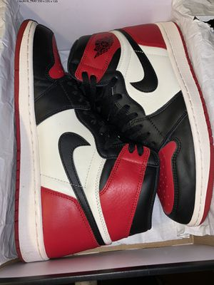 Air Jordan 1 bred toes for Sale in West Chicago, IL