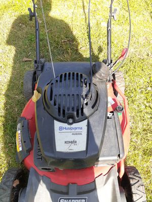 Husqvarna push mower works excellent Stars up first pool for Sale in Newport News, VA