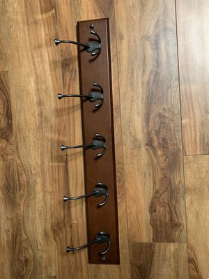 Wooden shelf with 5 hooks for Sale in Vancouver, WA
