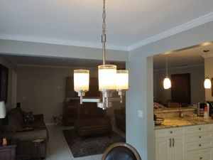 Three Light Chandelier for Sale in Pompano Beach, FL
