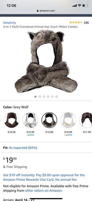 3 in 1, animal hat mitten combo for Sale in Cerritos, CA