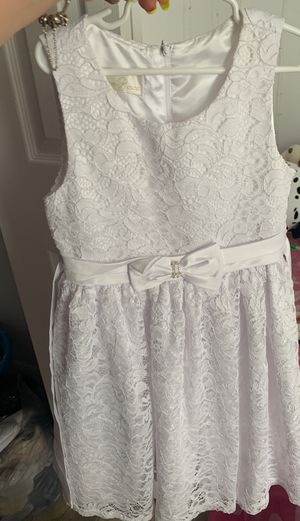 All white dress size 10 for Sale in Kissimmee, FL