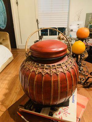 Pottery barn red rattan decor for Sale in Miami, FL