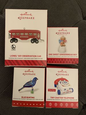 Hallmark Keepsake Ornaments $6-$14 each for Sale in Falls Church, VA