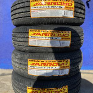 195/65R15 Four Brand New Tires Installed and Balanced for Sale in Rialto, CA