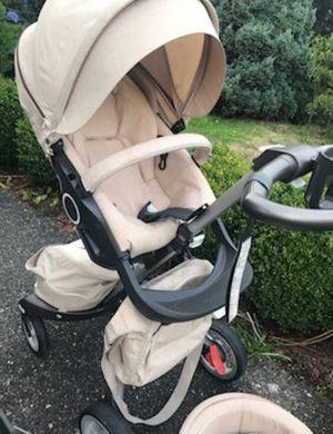 Stokke Xplory stroller in Beige Melange + extras for Sale in Everett, WA