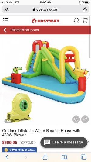 Outdoor Inflatable Water Bounce House with 480W Blower for Sale in Lake Elsinore, CA