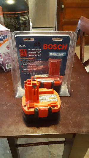 Bosch batteries BAT140 X2 1 new in packaging 1 used still works for Sale in Cicero, IL