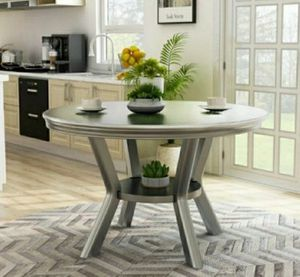Round Dining Table in Silver Finish for Sale in Ontario, CA