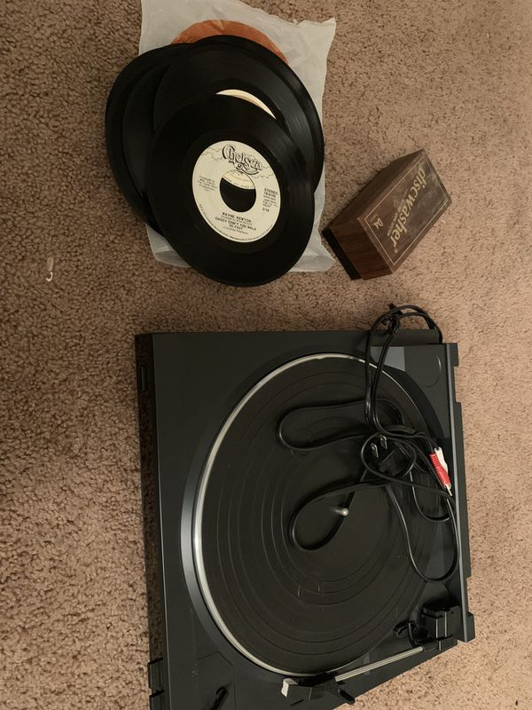 Record player with records