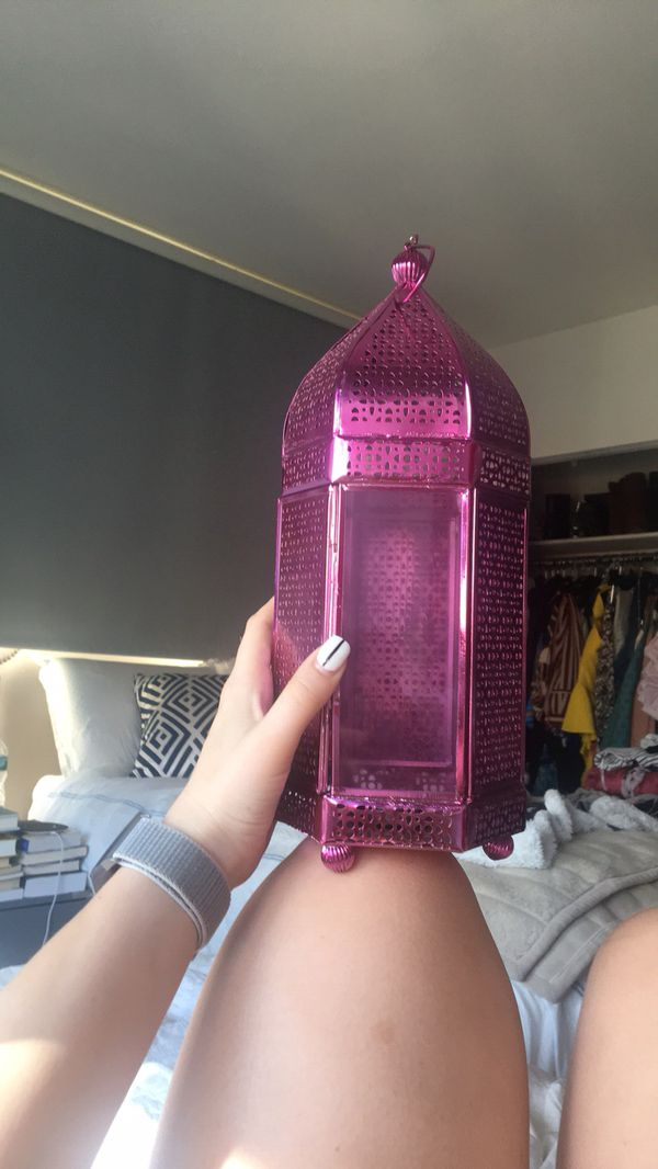 Pink Antique Candle Holder