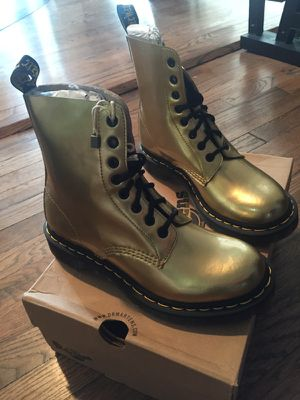 Gold Dr. Martens size 7 for Sale in Austin, TX