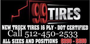 Commercial Truck/ 18 Wheeler/ Haul Truck Tires for Sale in Austin, TX