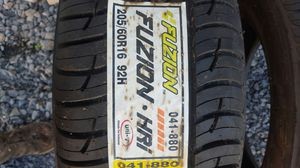 Pair of NEW 205 60 16 Fuzion HRI. 400AA rating. for Sale in Bunker Hill, WV
