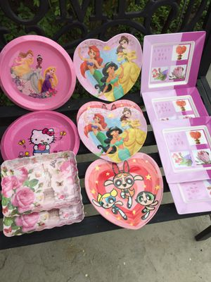 12 PC Beautiful kids dessert plate for Sale in Los Angeles, CA