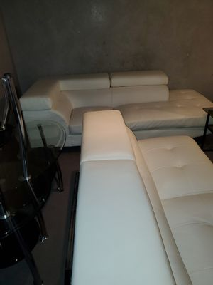 Sectional leather couch for Sale in Seattle, WA