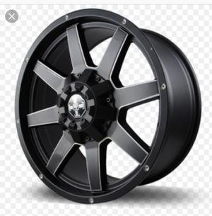 """Velox C4 truck wheels matte black 18x9 18"""" t&t offroad rims for Sale in Upper Freehold, NJ"""