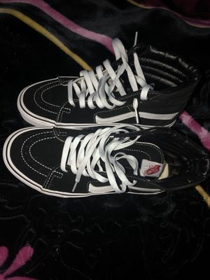 Black and white vans unisex for sale! for Sale in Brockton, MA