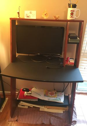 Computer desk, chair, lamp and monitor for Sale in Fairfax, VA