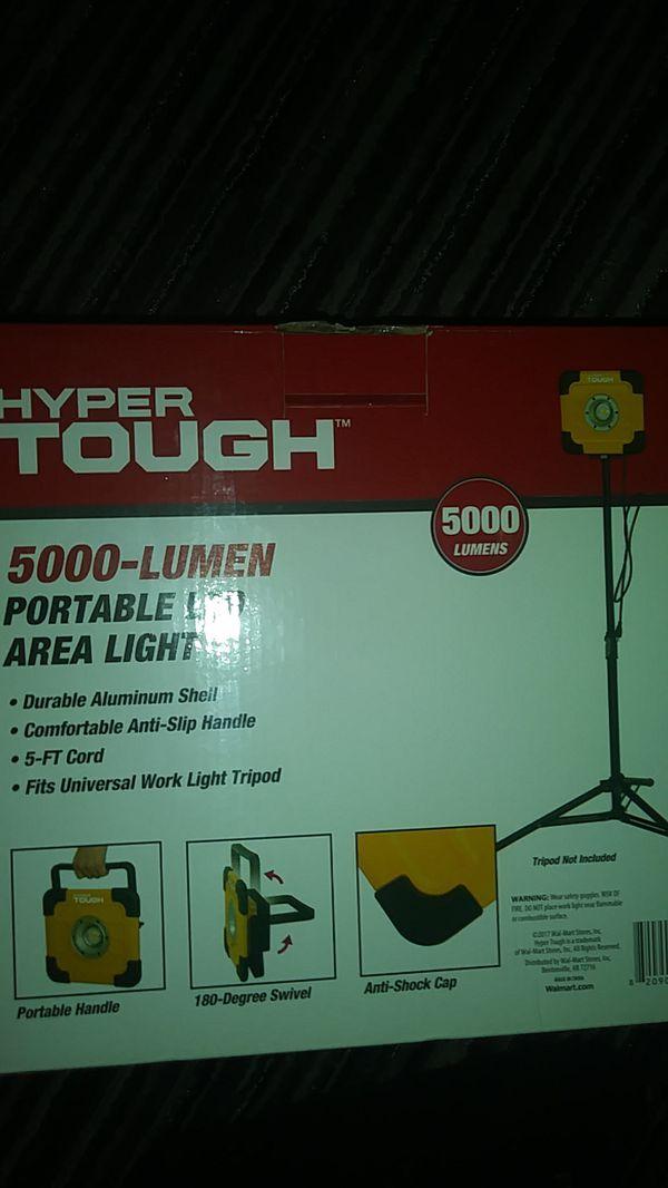 Hyper tough     5000-LUMEN PORTABLE LED AREA LIGHT super bright for Sale in  San Antonio, TX - OfferUp