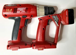 Craftsman Drill And Light 14.4v Tools Only Uses Nickel Cadmium Batteries Vintage 90s for Sale in Sacramento, CA