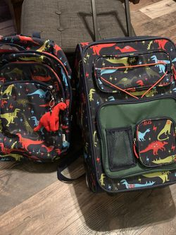 Kids Carry On Suitcase & Backpack Dinosaur for Sale in Downey,  CA