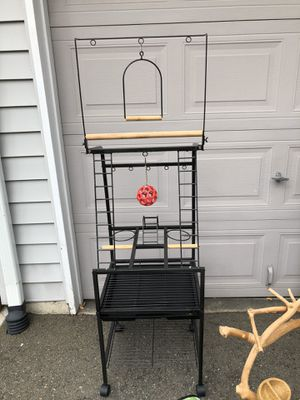 Bird cage / play stand for Sale in Auburn, WA