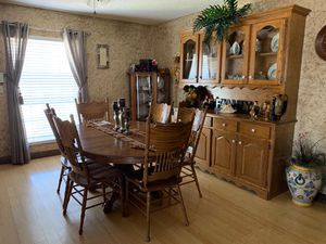 Dining table set and china cabinet for Sale in Tulsa, OK