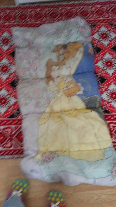 Beauty beast blanket