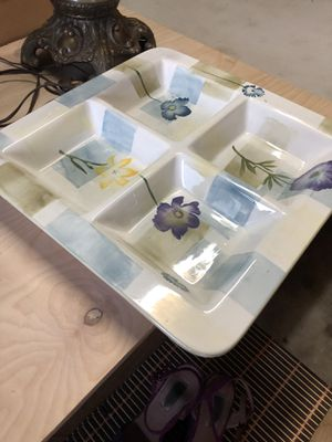 Crystal vase , dish, party plater, two large platers for Sale in Carmichael, CA
