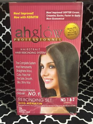 Ahglow Rebonding Set/ Hair Straightening for Sale in Sacramento, CA