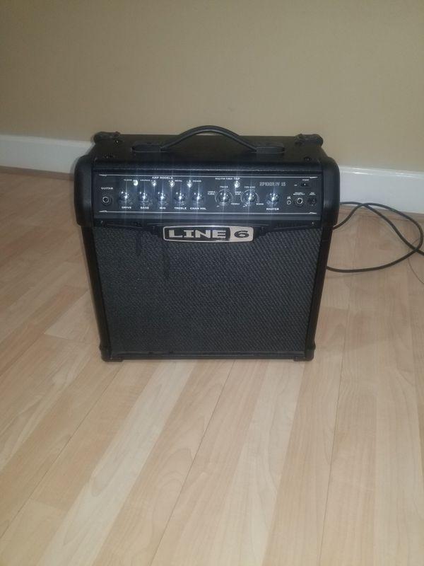 Guitar bag and speaker