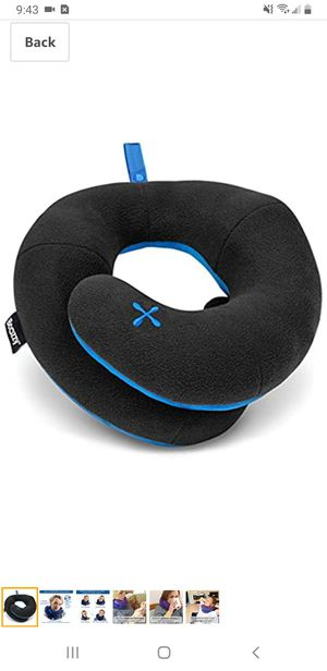 Adults Chin Supporting Travel Pillow- Unique Patented Design Offers 3 Ergonomic Ways to Support The Head, Neck, and Chin for Sale in Tustin, CA