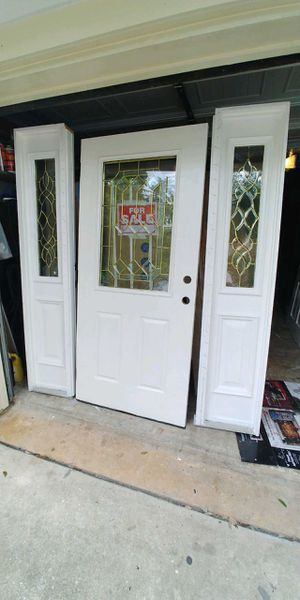 36x80 front door 🚪 with 2 side lite for Sale in Houston, TX